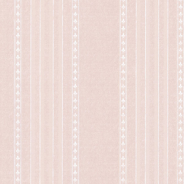 Adria Blush Jacquard Stripe Wallpaper