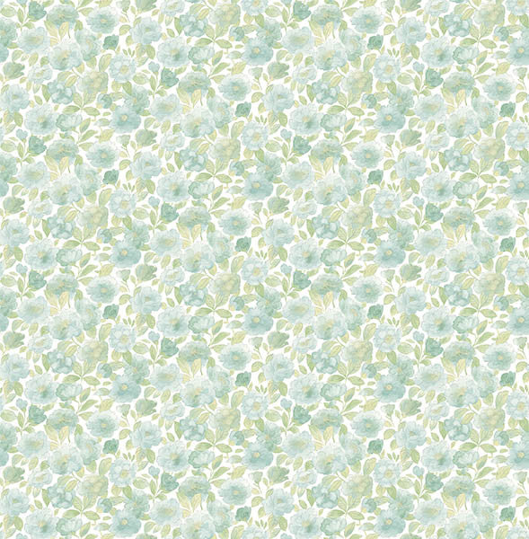 Elsie Teal Floral Wallpaper