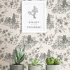 Laure Ink Toile Wallpaper