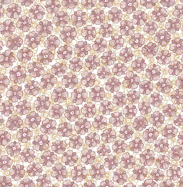 Allison Lavender Floral Wallpaper