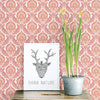 Lulu Rose Damask Wallpaper