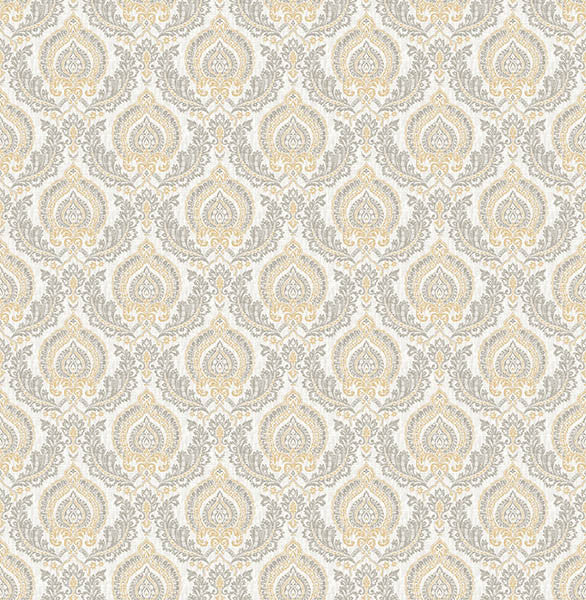 Lulu Honey Damask Wallpaper
