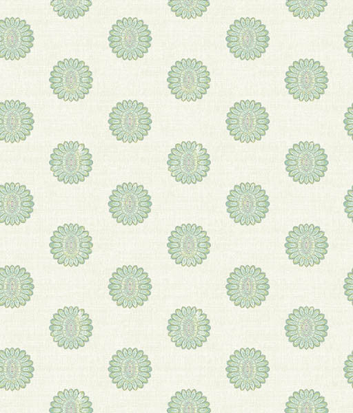 Lise Turquoise Medallion Wallpaper