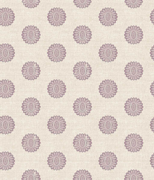 Lise Purple Medallion Wallpaper