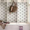 Lise Grey Medallion Wallpaper