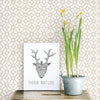 Gigi Light Grey Geometric Wallpaper