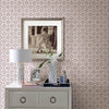 Gigi Plum Geometric Wallpaper