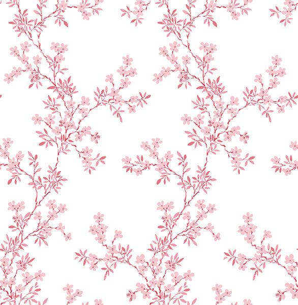 Claire Pink Floral Trail  Wallpaper