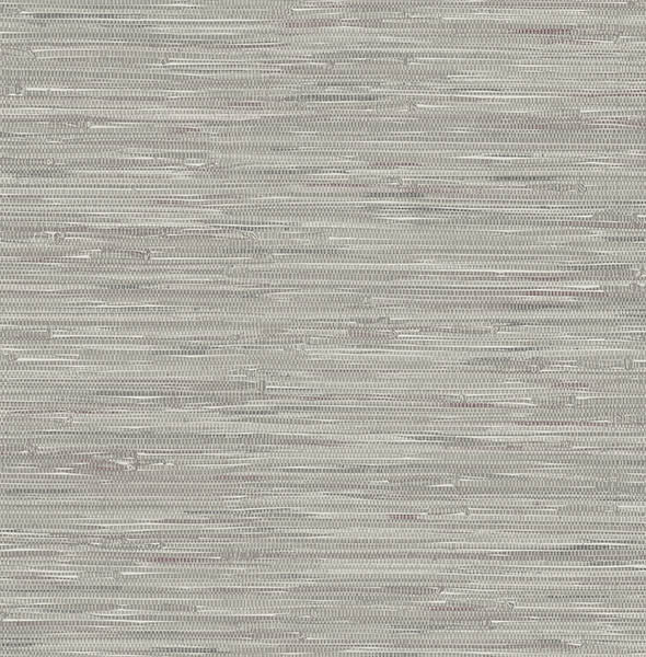 Natalie Grey Grasscloth Print Wallpaper