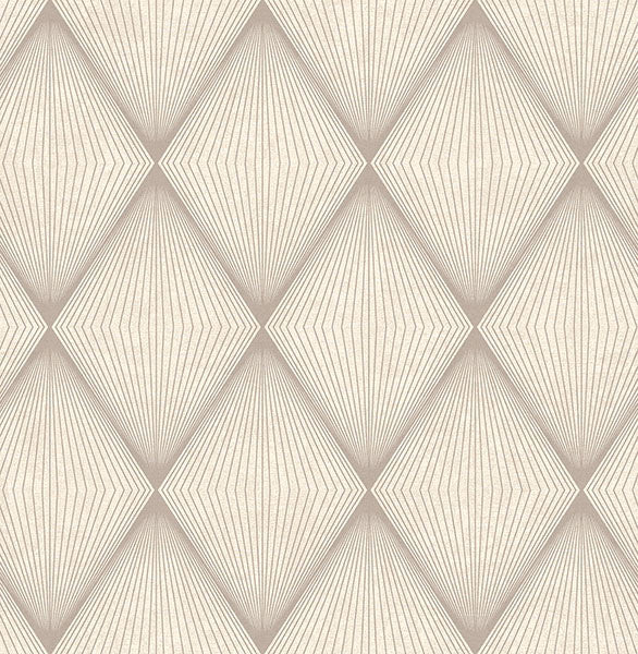 Enlightenment Taupe Diamond Geometric Wallpaper