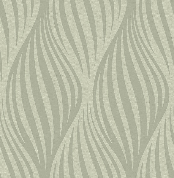 Distinction Taupe Ogee Wallpaper
