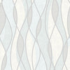 Gyro Light Blue Swirl Geometric Wallpaper