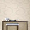 Swirl Neutral Scroll Geometric Wallpaper
