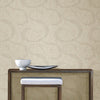 Swirl Brown Scroll Geometric Wallpaper