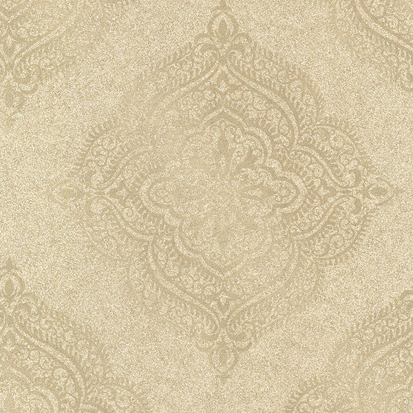 Capella Gold Medallion Wallpaper