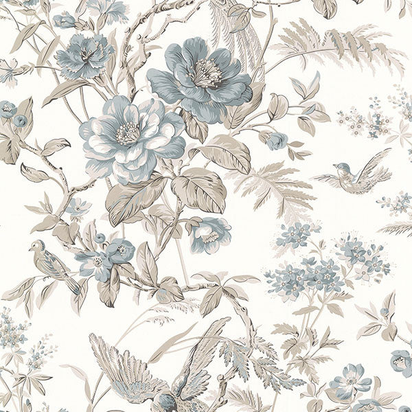 Elizabeth Teal Wildflower Trail Wallpaper