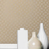 Scale Bronze Geometric Wallpaper