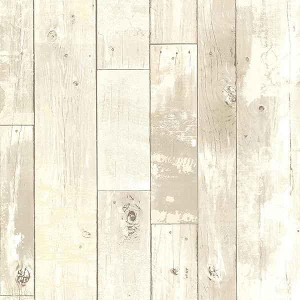 Ashwile Taupe Wood Wallpaper