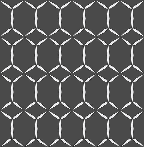 Fusion Black Geometric Wallpaper