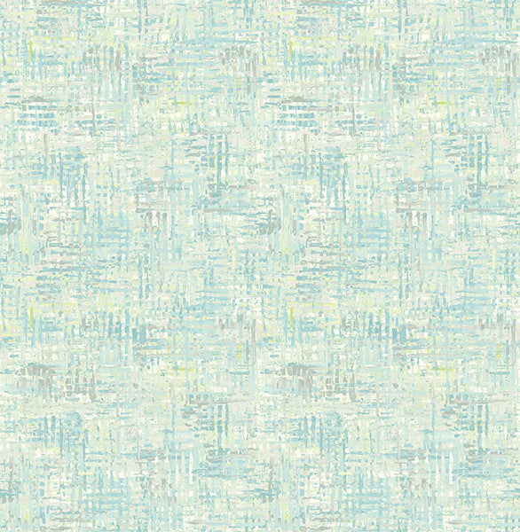 Avalon Turquoise Weave Wallpaper