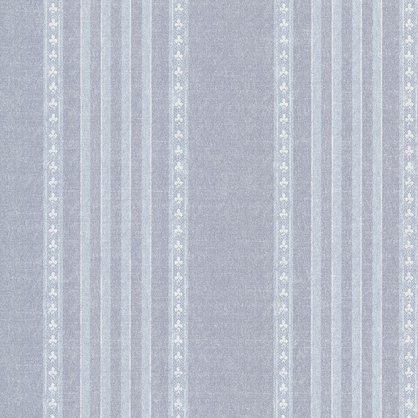 Adria Blue Jacquard Stripe Wallpaper