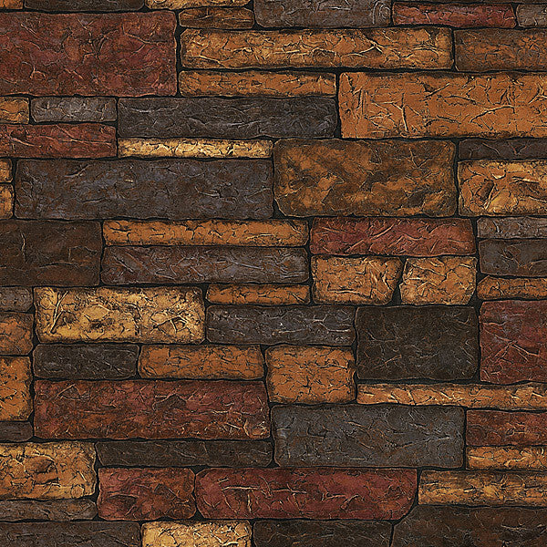 Clayton Charcoal Stone Texture Wallpaper