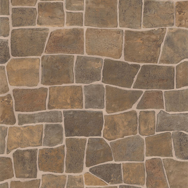 Flagstone Taupe Slate Path Wallpaper