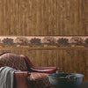 Orchard Brown Wood Panel Wallpaper