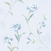 Caserta Blue Floral Wallpaper