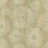 Davao Light Brown Medallion Wallpaper