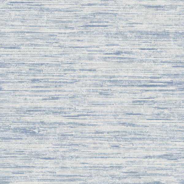 Le Mans Blue Grasscloth Texture Wallpaper