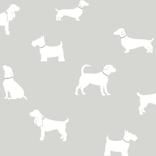 Metz Taupe Dog Silhouette Wallpaper
