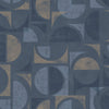 Hamar Navy Geometric Wallpaper