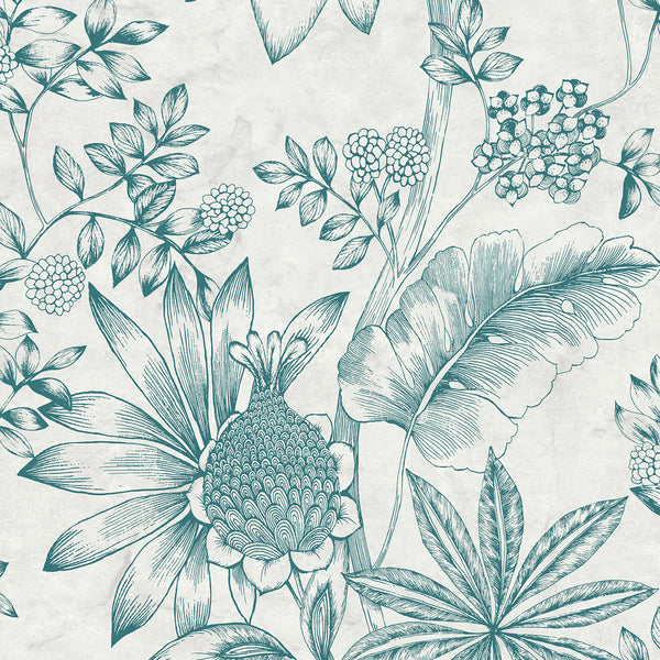 Kenitra Cream Botanical Wallpaper