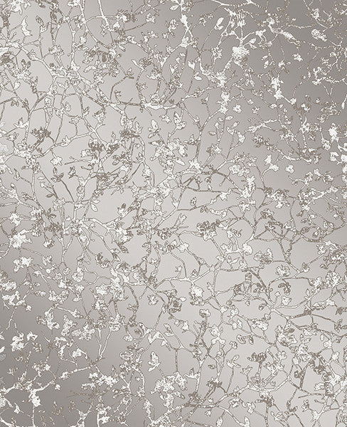 Palatine Grey Leaves Wallpaper