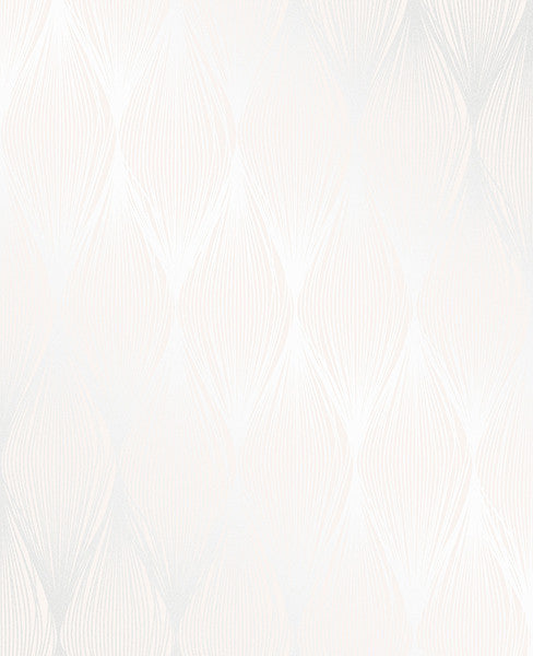 Gleam Cream Linear Ogee Wallpaper