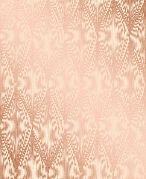 Gleam Bronze Linear Ogee Wallpaper