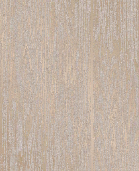 Enchanted Gold Woodgrain Wallpaper