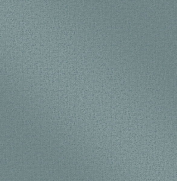 Urbana Teal Geometric Texture Wallpaper