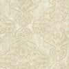 Elena Beige Damask Wallpaper