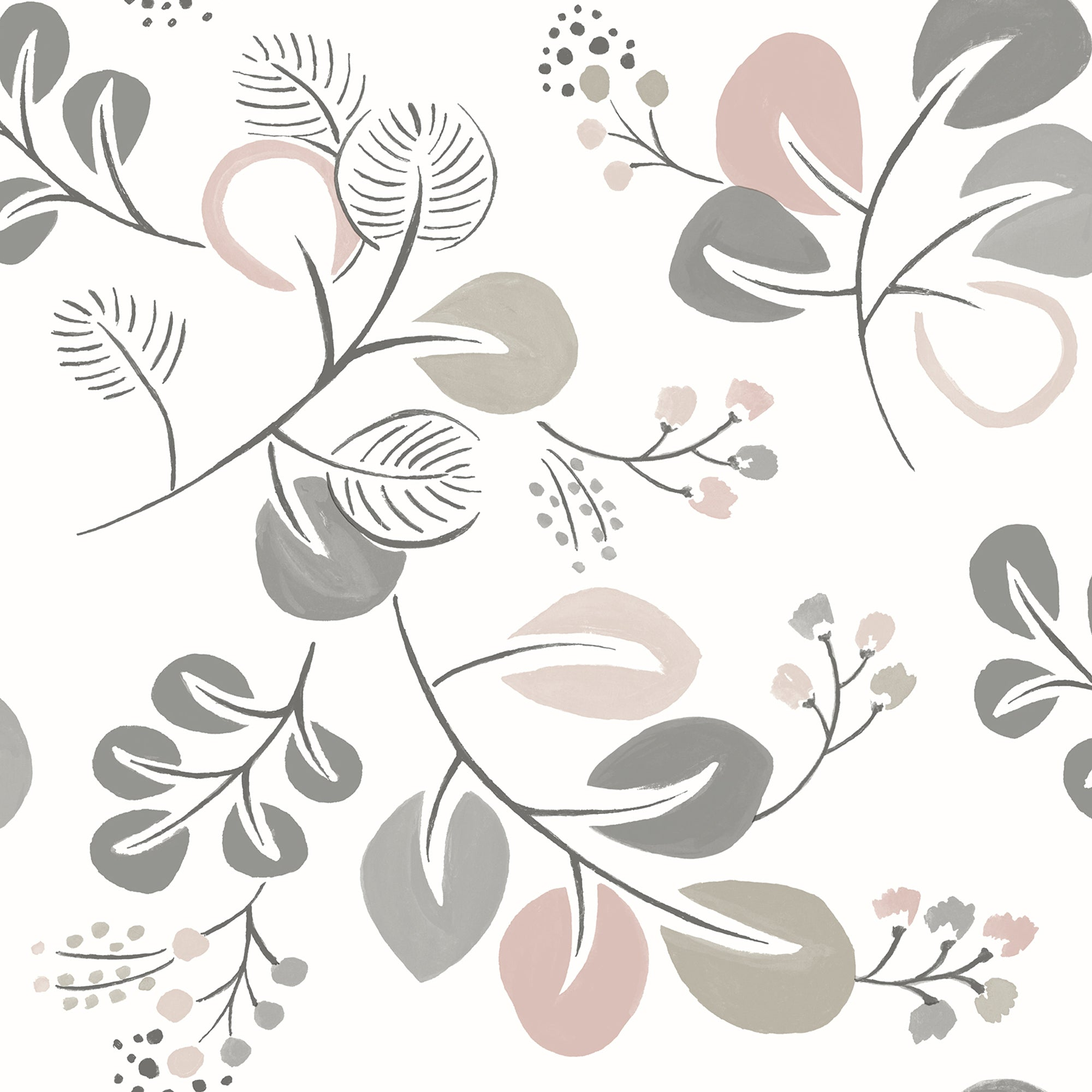 Jona Light Pink Trail Wallpaper