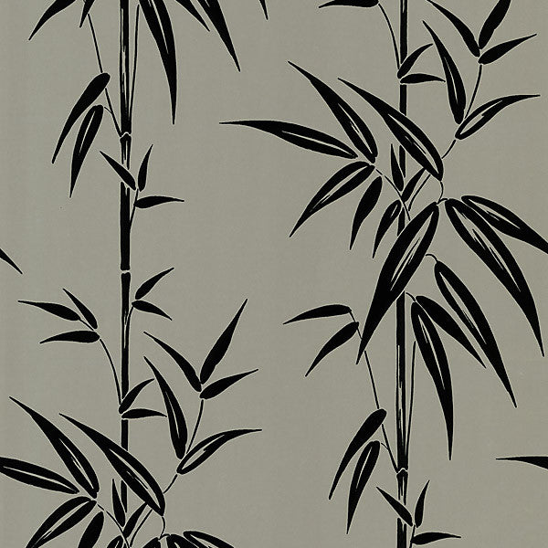 Saharan Pewter Bamboo Stalk Wallpaper