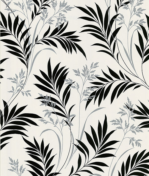 Bali Hai White Foliage Wallpaper