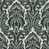 Apollo Black Modern Damask Wallpaper
