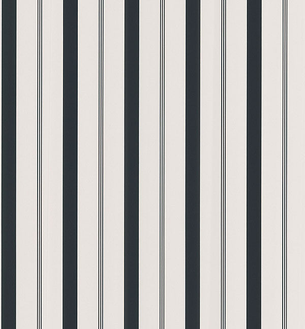 Stripes Black Varied Stripe Wallpaper