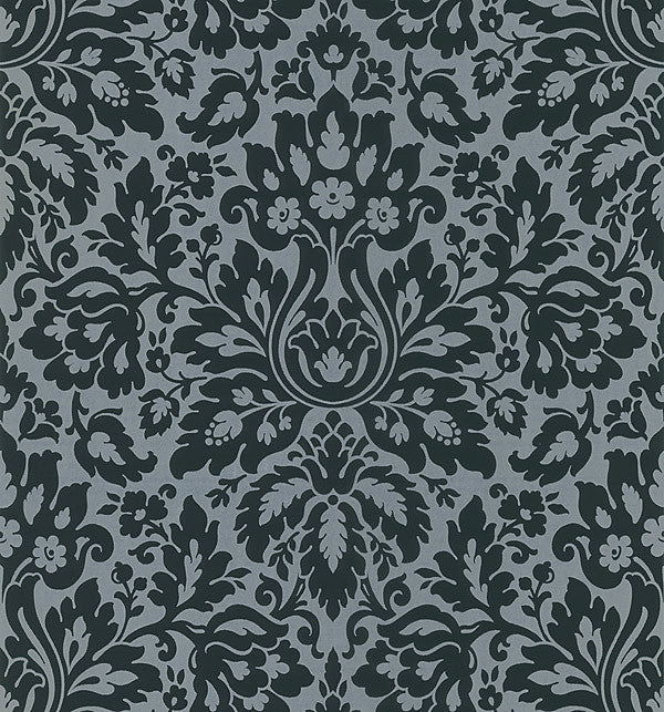 Mirza Black Damask Wallpaper