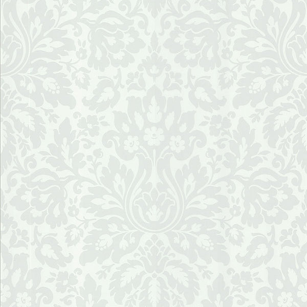 Mirza White Damask Wallpaper
