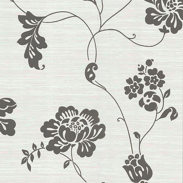 Amizmiz Brown Floral Trail Wallpaper