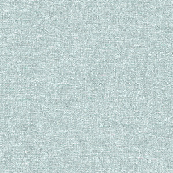 Asa Teal Linen Texture Wallpaper