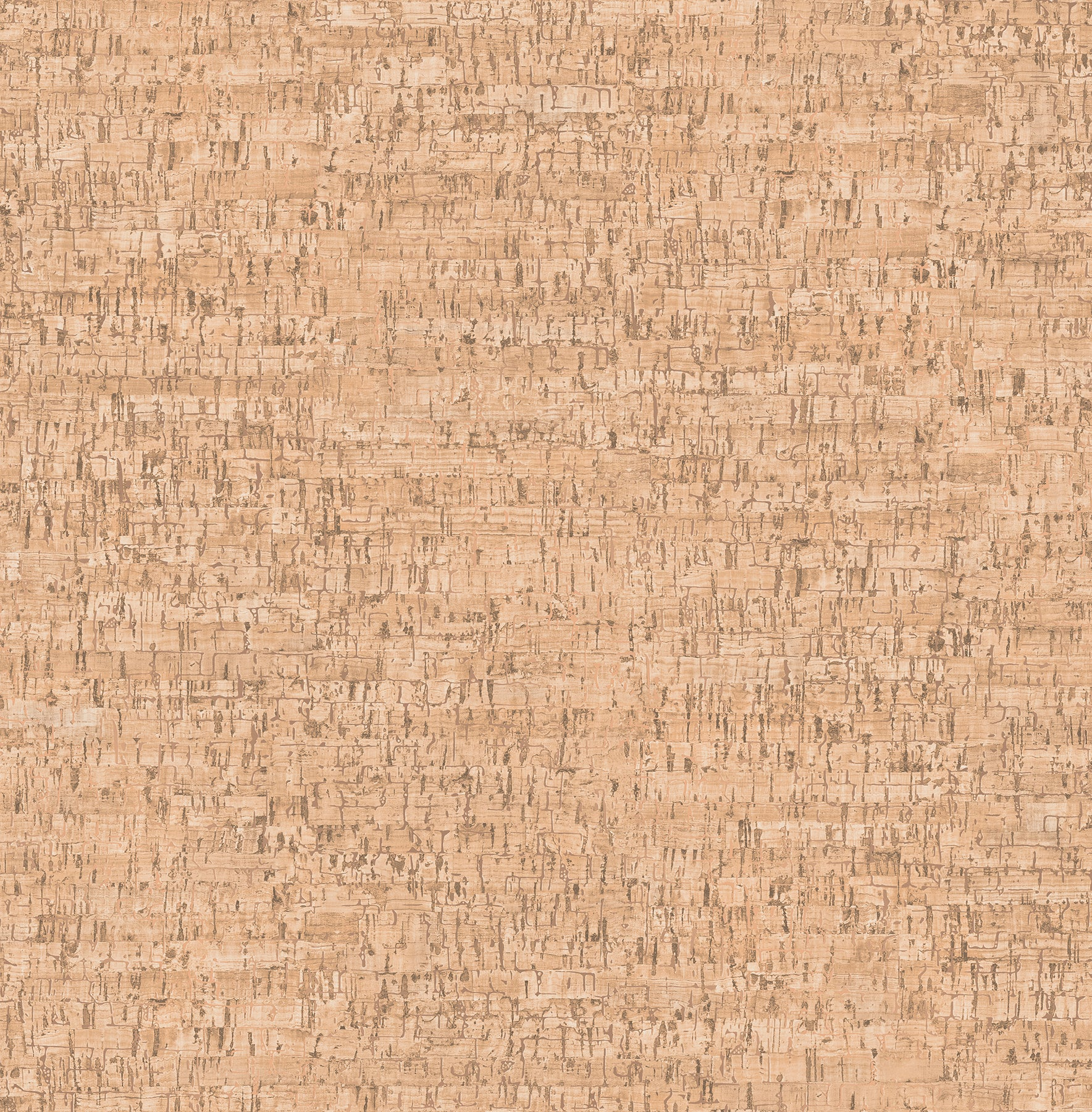 Henrique Orange Faux Cork Wallpaper